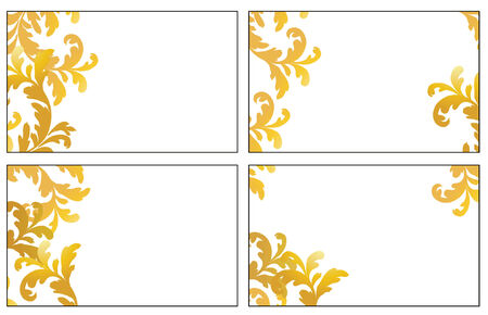 Four variants of greeting cards. Vector illustration Stock Vector - 3608120