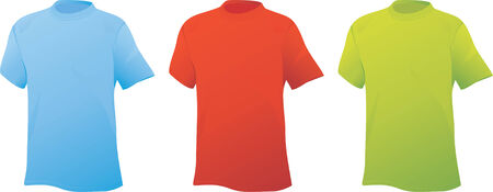 Three sports shirts. Vector illustration Vector