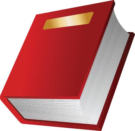 Het rode boekje. Vector illustratie  Vector Illustratie