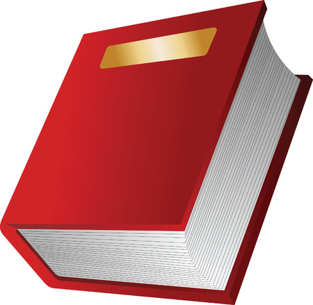 guidebook: The red book. Vector illustration