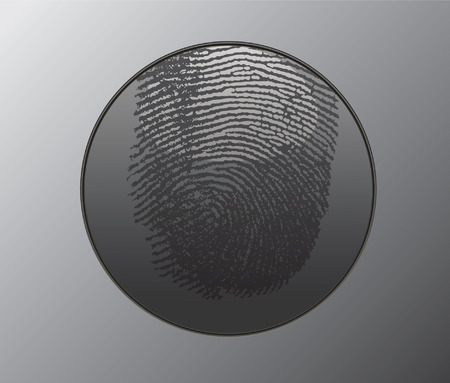 Button with fingerprint.Vector illustration Stock Vector - 3608143