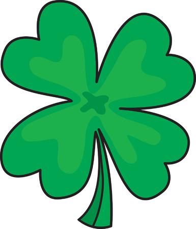 four leafs clover: El tr�bol de cuatro hojas  Vectores