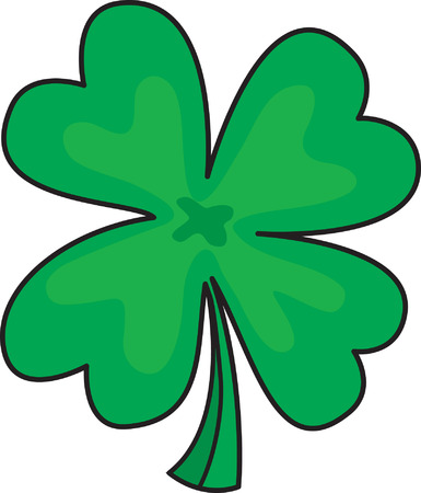 patric icon: Four leafs clover Illustration