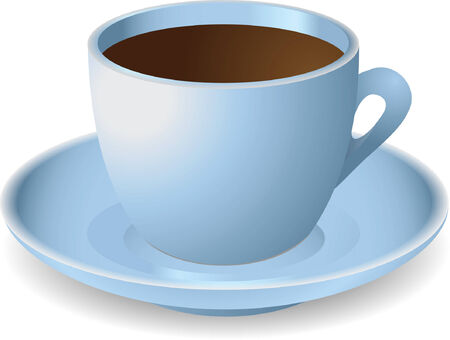 tasteful: Blue cup with coffee. Vector illustration Illustration