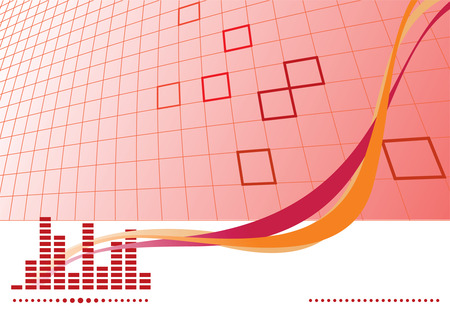 Red music background with equalizer. Vector illustration Stock Vector - 3608221