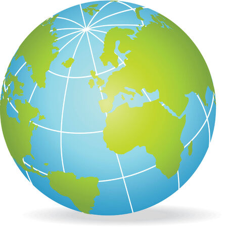 Globe of earth. Vector illustration Vector