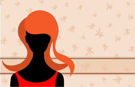 Abstract background with silhouette of woman. Vector illustration Vector
