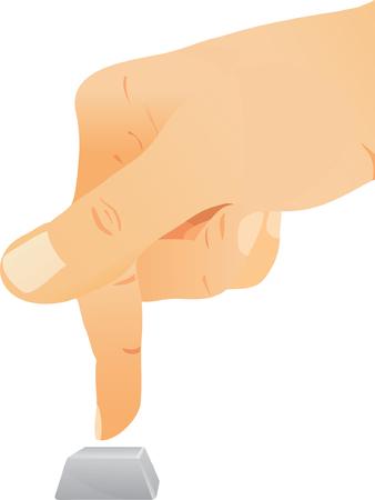hands off: Pulsar sobre el bot�n