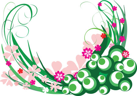 Abstract floral ornament. Vector illustration Stock Vector - 3608168