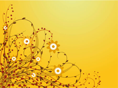 Abstract floral background. Vector illustration Stock Vector - 3608234