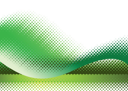 toned: Green halftone background. Vector illustration with space for text or logo