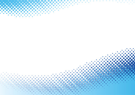 Blue halftone background. Vector illustration with space for text or logo Vector