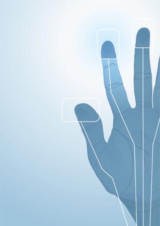 cybernetics: The cybernetics hand. Vector illustration Illustration