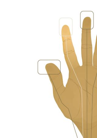 cybernetics: The cybernetics hand. Vector illustration Illustration