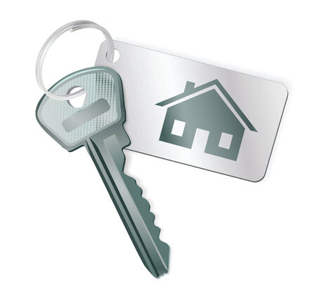 Key with a label. Vector illustration Vector
