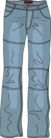 The blue jeans. Vector illustration Vector