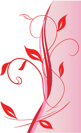 Abstract floral ornament. Vector illustration Stock Vector - 3612912
