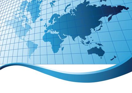 Map of world. Vector illustration Stock Vector - 3612959