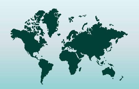 Kaart van de wereld. Vector illustratie