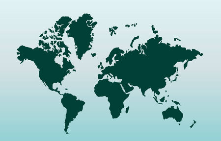 physical geography: Map of world. Vector illustration