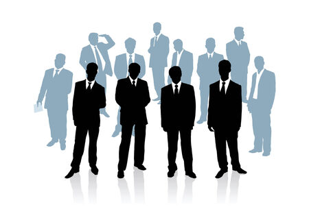 entrepreneurs: Collection of businessman. Vector illustration Illustration