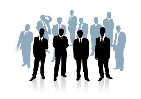 Verzameling van zaken man. Vector illustratie  Stock Illustratie