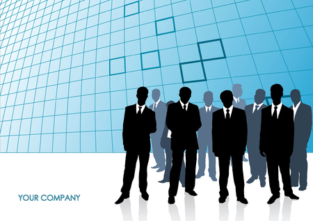 Collection of businessman. Vector illustration Stock Vector - 3612964