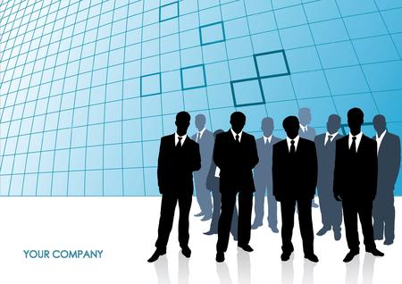 Verzameling van zakenman. Vector illustration