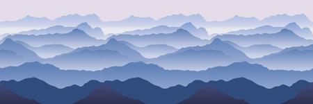 Mountains. Seamless vector illustration Vector
