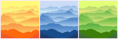 view wallpaper: Mountains. Seamless vector illustration