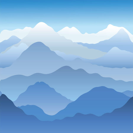 Mountains. Seamless vector illustration  Stock Vector - 3612926