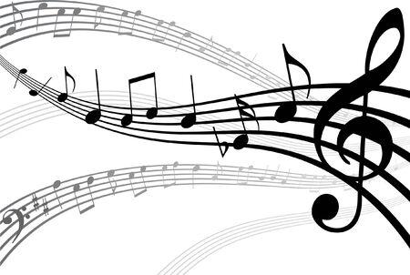 Abrégé de musique de fond. Vector illustration