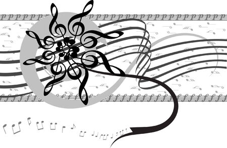 melodist: Abstract musical background. Vector illustration