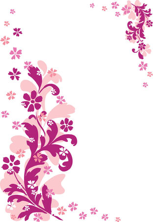 Abstract floral ornament. Vector illustration Stock Vector - 3612927