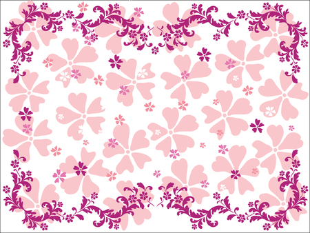 Abstract floral ornament. Vector illustration Stock Vector - 3612974
