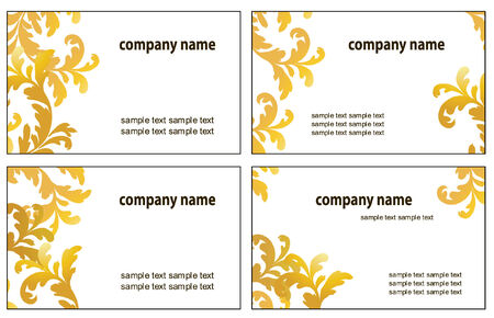 Four variants of greeting cards. Vector illustration Stock Vector - 3613084