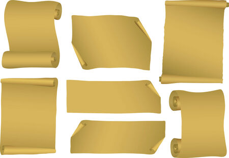 Verzameling van vector scrollen. Vectorillustratie