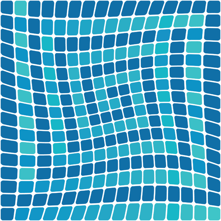 Blue mosaic background. Vector illustration Vector