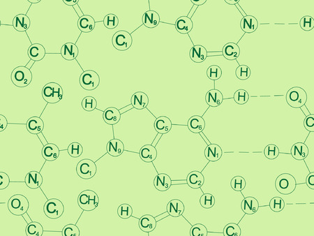 Seamless background from molecules Vector