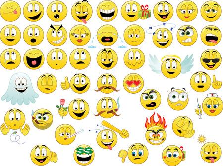 Colección de sonrisas. Ilustración vectorial