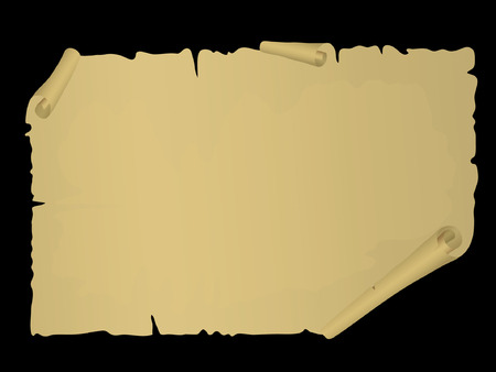 Old vector scroll. Vector illustration Vector