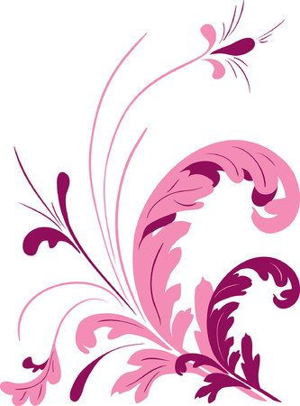 Abstract floral elements. Vector illustration Stock Vector - 3613488