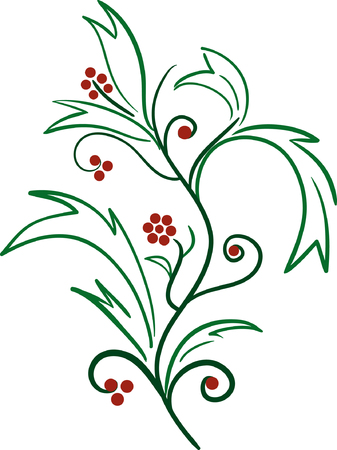 Abstract floral ornament. Vector illustration Stock Vector - 3613557