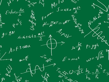 Vector seamless  with physical formulas. Vector