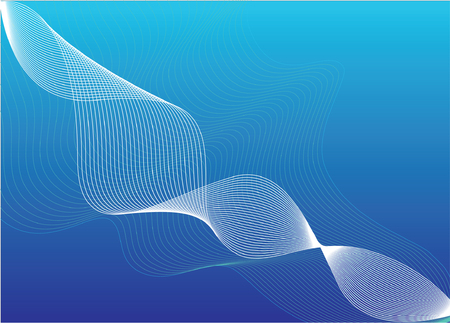 Abstract vector background with waves Vector