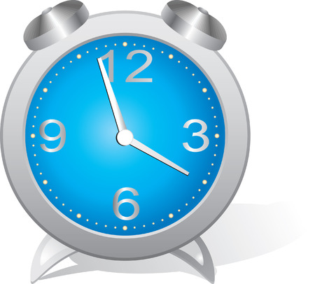 dialplate: Blue alarm clock. Vector illustration Illustration