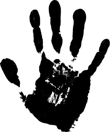 empreinte de main: Imprimer d'un palmier. Vector illustration