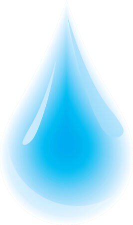 Clean water droplet. Vector illustration Vector