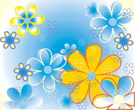 Color flowers background. Vector illustration Vector