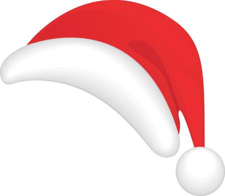 kerstmuts: De rode Santa hoed. Vector afbeelding